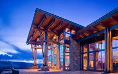 chalet rustique résidence secondaire de luxe