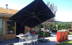 parasol incliné protection uv outdoor jardin