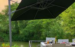 ombre parasol déporté carré noir