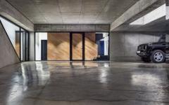 garage en béton maison contemporaine neuve