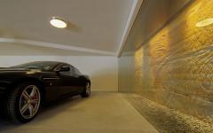 garage intérieur maison de standing d'architecte