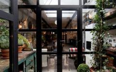 verrière et porte d'entrée design loft