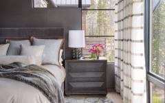 chambre à coucher décoration ameublement rustique chalet