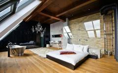 chambre loft spacieuse design