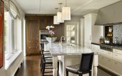 cuisine aménagée marbre bois