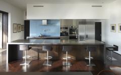 cuisine moderne ouverte maison contemporaine de ville