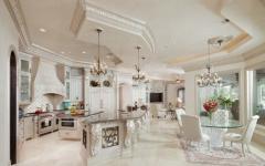 cuisine en marbre et salle à manger quotidienne