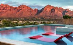 piscine semi enterrée luxe maison familiale