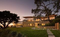 vue de nuit maison d'architecte originale