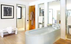 salle de bain design luxueux marbre