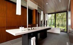 baignoire design minimaliste salle de bain avec vue