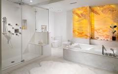 belle salle de bain luxe marbre blanc