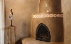 poêle d'antan ambiance rustique maison santa fe