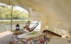 double lit déco cabane dans les arbres éco-responsable