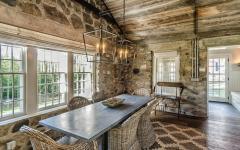 salle à manger ambiance rustique