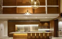 cuisine américaine et ouvert design bois