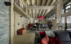 intérieur rustique prestige villa de ski