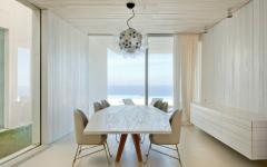 salle à manger villa de vacances d'architecte