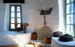 Murs blanc intérieur bien méditerranéen