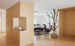 intérieur moderne design bois massif
