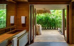 salle d'eau privative villa de luxe exotique