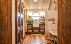 maison rustique intérieur en bois salle de bain
