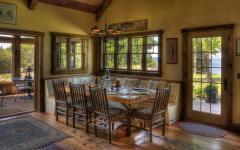 tables et chaises banquette rustique salle à manger