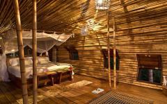 lumières tamisées villa de vacances écologique retraite