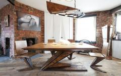 mobilier en bois massif original loft