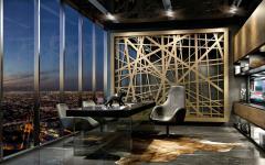 bureau design masculin penthouse miami