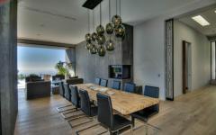 villa moderne la salle à manger