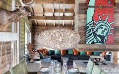 salle à manger accueillante chalet de vacances ski