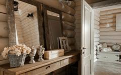 intérieur brut bois massif maison