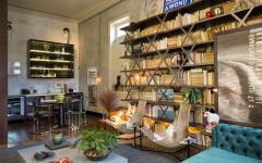 grande bibliothèque salon séjour appart