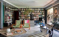 bibliothèque appartement bourgeois artistique à Paris