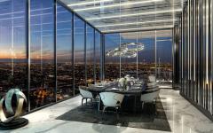 salle à manger avec vue penthouse maison appartement miami