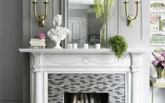 cheminée décorative accessoires déco glamour