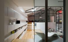 intérieur loft agencement original répartition surface