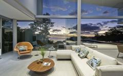 séjour avec vue villa de rêve