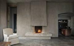 cheminée murs rustres ambiance industriel