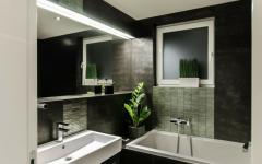 salle de bain baignoire moderne noir