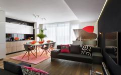 Déco design créatif d'intérieur logement de ville