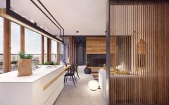 intérieur moderne fonctionnel appartement