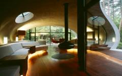 intérieur maison futuriste minimaliste