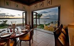 salle à manger villa exotique