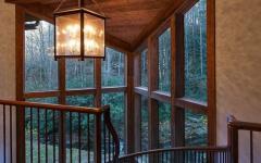intérieur en bois massif de luxe
