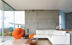 intérieur salon séjour résidence secondaire vue mer