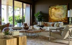 séjour canapé moderne ambiance élégante