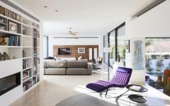 Séjour de la maison d'architecte moderne