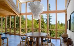 mur en verre cadres fenêtre en bois